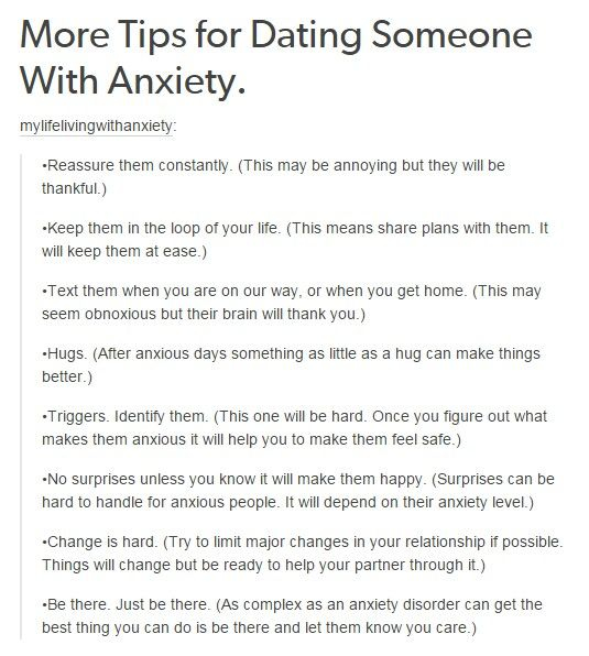 Dating sites for people with anxiety